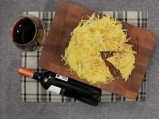 Хрупкави картофени тиганици с гъби и лук